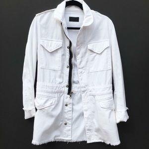 RtA White Cargo Jacket